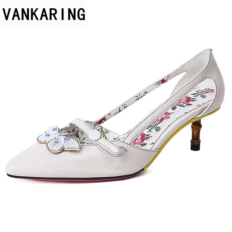 VANKARING women 2018 new fashion shoes spring summer genuine leather sandals sexy thin high heels pointed toe dress shoes woman 2017 new sexy pointed toe high heel women pumps genuine leather spring summer shoes woman fashion dress party casual shoes pumps