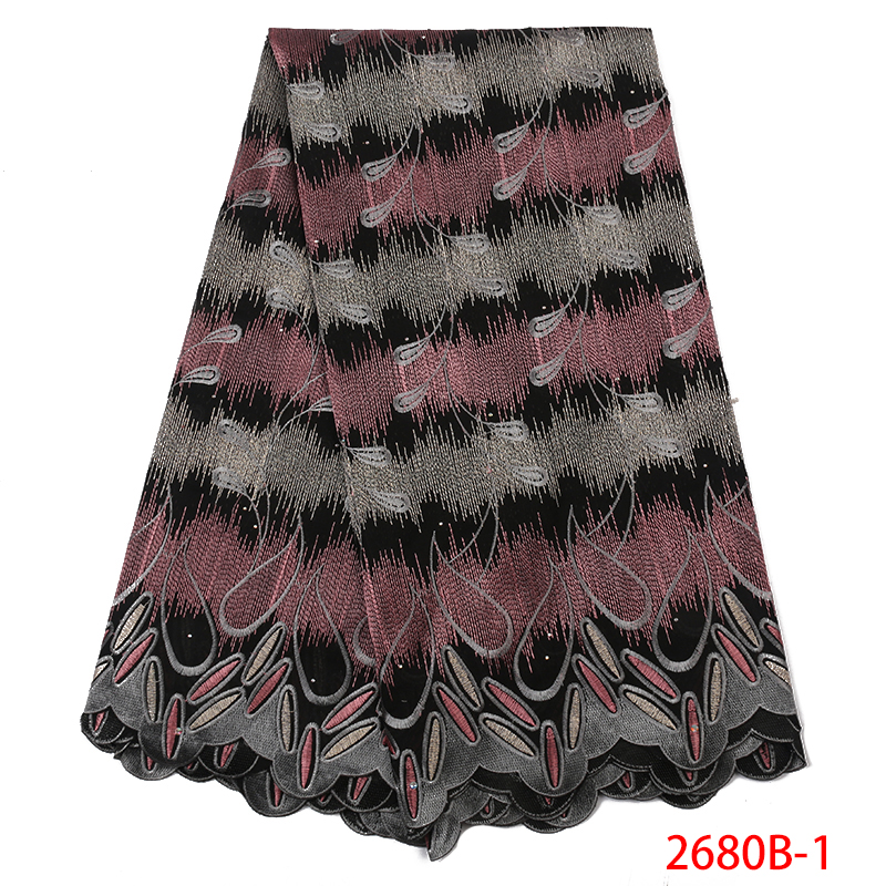 2019 African Fabric Lace Swiss Voile Laces In Switzerland High Quality Swiss Voile Cotton Lace Fabric For Women KS2680B-1