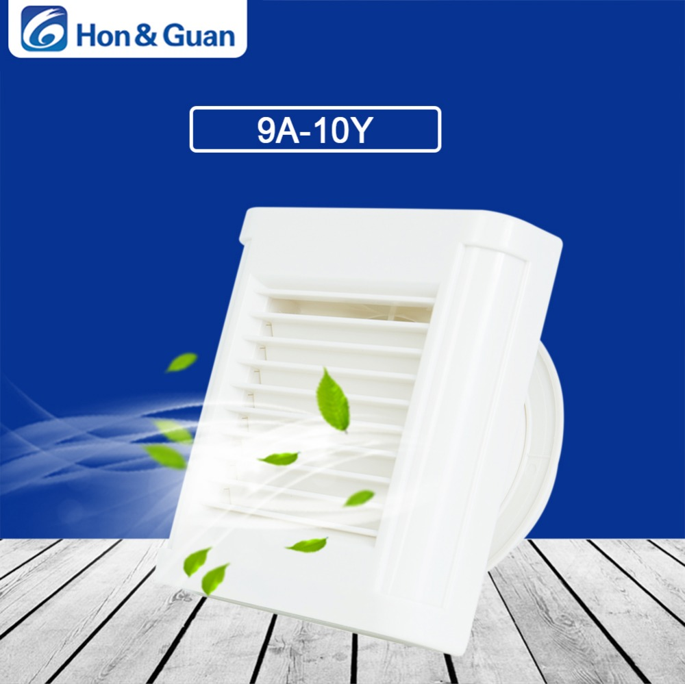 Hon&Guan 4 Silent Duct Extractor Fan Ventilation Bathroom Fan with Automatic Louver - 100V/240V - 14W
