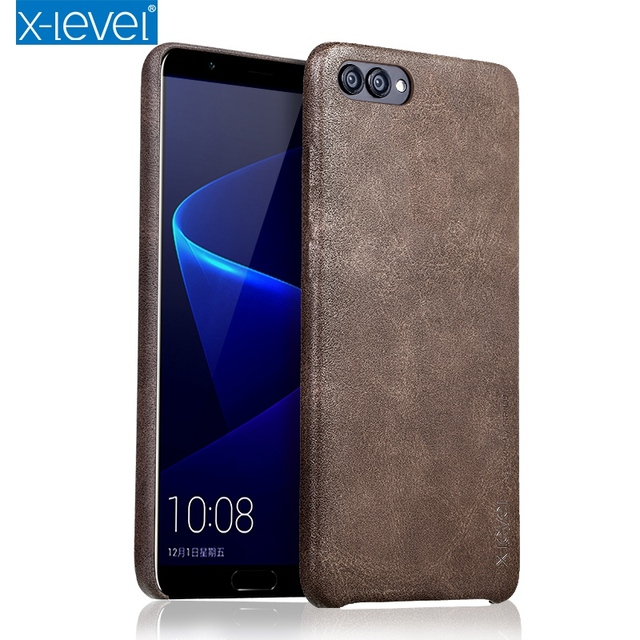 factory price 64d36 4692c US $7.49 25% OFF|X Level Brand PU Leather Case For Huawei Honor V10 Back  Case Cover for Huawei Honor V 10 V10 Dual SIm Vingate Leather Case Capa-in  ...