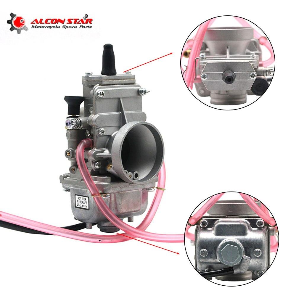 Alconstar 32mm 34mm carburateur Carb glissière plate pour Mikuni pour Honda 250 CR250 pour Kawasaki KX125 150 moto Motocross
