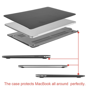"Image 2 - MOSISO Matte Hard Laptop Sleeve Cover Case For Macbook Air 13 case Funda case For Mac Book new Air 13"" with Touch ID A1932 2018"