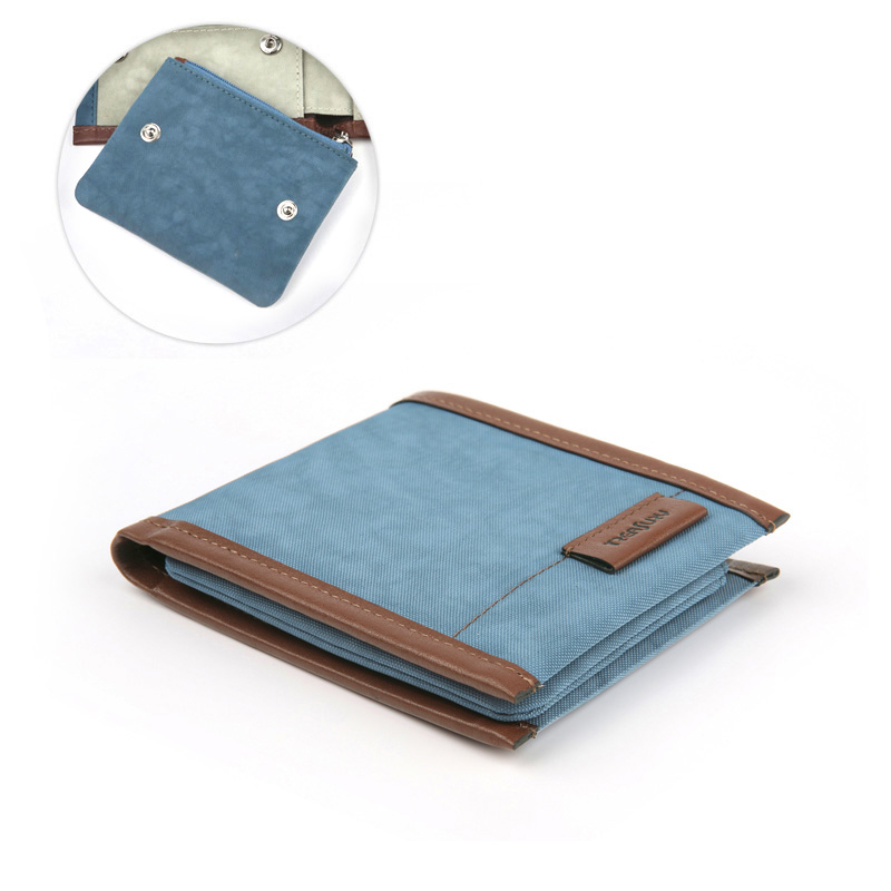 Treafury Retro Man Canvas Wallets Male Purse Fashion Card Holders Small Zipper Wallet New Designed Multi Pockets Purse For Male right 2 8t 2 7t v6 cylinder 1 3 camshaft adjuster timing chain tensioner for vw passat b5 superb a4 a6 a8 078109088c