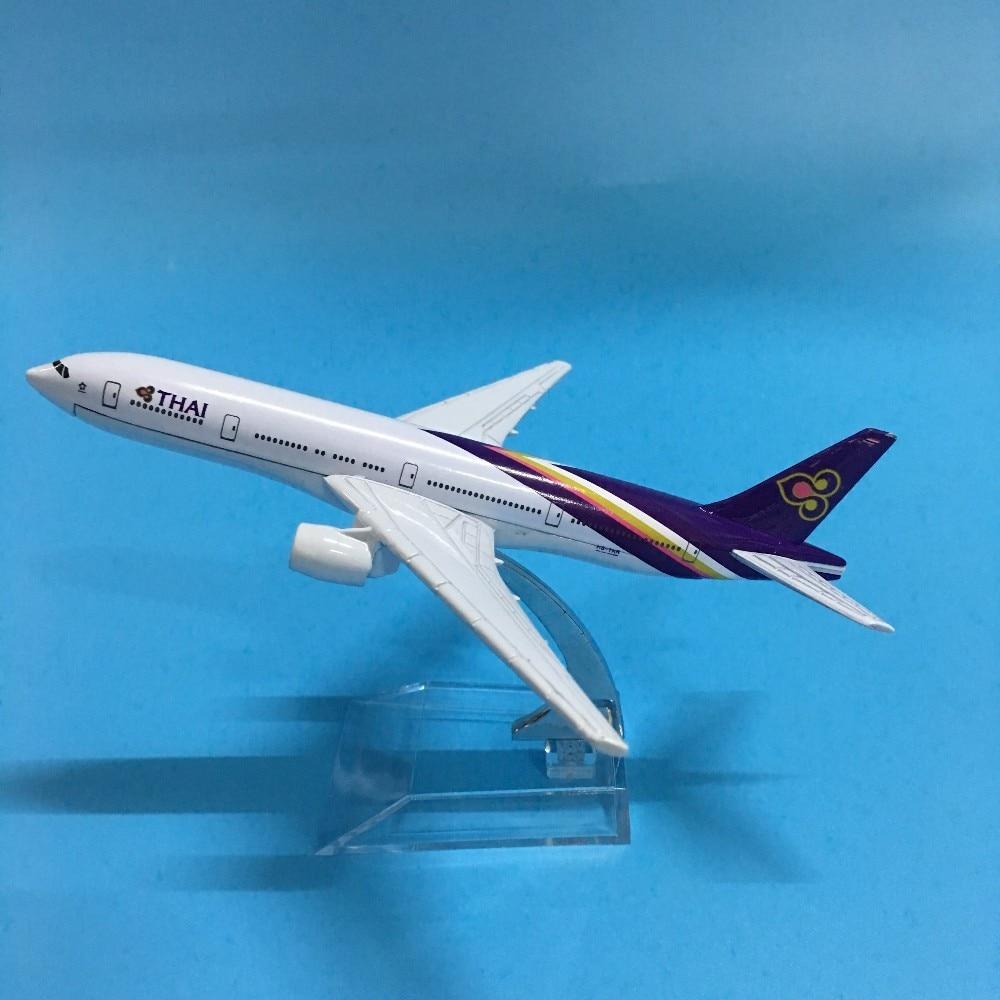 JASON TUTU 16cm Plane Model Airplane Model Thai Boeing 777 Aircraft Model Diecast Metal Airplanes 1:400 Plane Toy Gift
