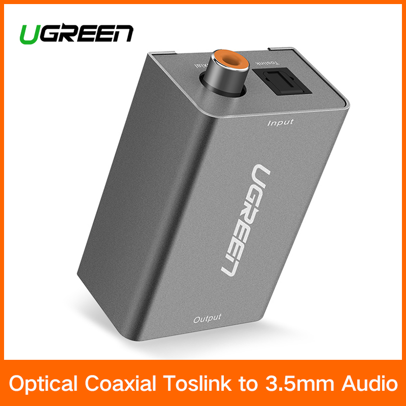 Ugreen Digital zu Analog Audio Adapter Optical Koaxial Toslink auf 3,5mm Audio mit DC 5 v/2A EU stecker Konverter Adapter für TV