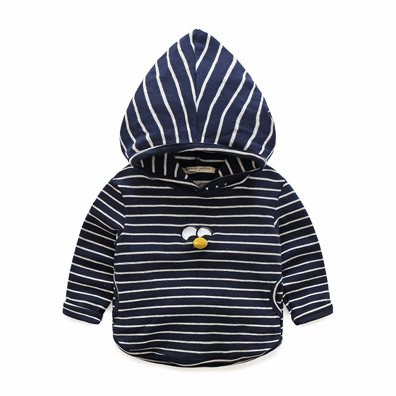 Hoody For Boy Striped Cotton Kids Clothes Spring Autumn Boys Hoodies With Eyes Long Sleeve Toddler Tee 2-6 Y Children Clothing (6)