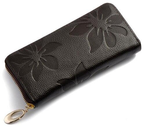 flor padrão lady mulheres long Composição : Genuine Leather