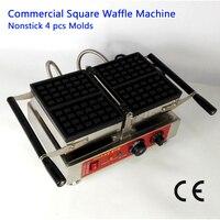 상업 conact 와플 메이커 벨기에 직사각형 와플 기계 스테인레스 스틸 레스토랑 220 v 110 v