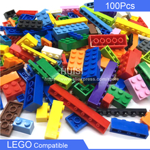 DIY Learning Educational Bricks Toys Compatible With LEGO Plastic Blocks Plate City Parts 100PCS Set Girls Boys Toys 6 Years