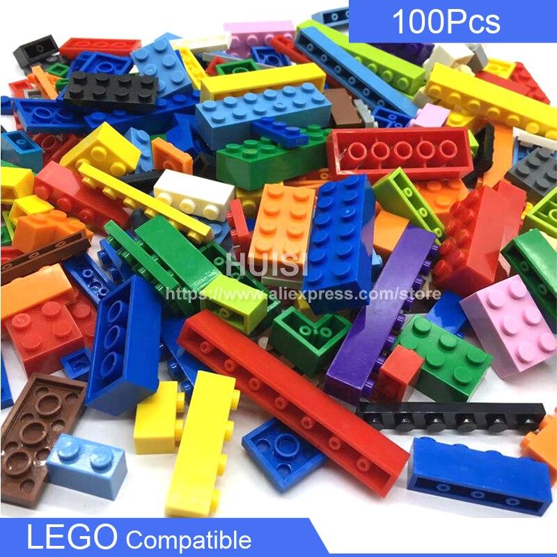 DIY aprendizaje juguetes educativos bloques compatibles con bloques de plástico LEGO placa ciudad partes 100 Uds juego niñas niños juguetes 6 años GOROCK ensamblar bloques de construcción grandes de autobús montar ladrillos clásicos juguetes de bricolaje regalo de bebé Compatible con aviones LegoINGlys duplie