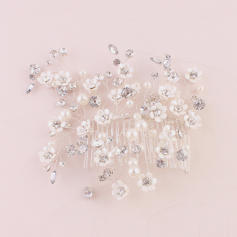 Bridal Crystal Rhinestone Hair Comb Women Wedding Tiara Brides Hair Accessories Bijioux de tete