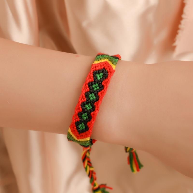 Donarsei Bohemian Handmade Colorful Braided Bracelets For Women Adjustable Charm Weave Rope String Thread Bracelet Drop Shipping