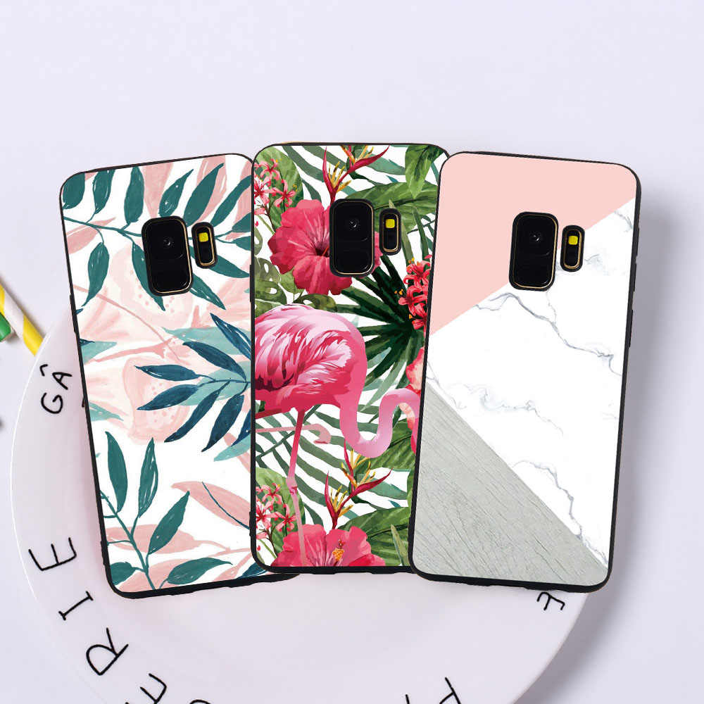Soft Phone Case For Samsung S9 S8 Plus S7 S6 Edge J7 DUO J3 J5 J7 2017 European Edition Fish Cat Marble Case Covers  Funda Coque