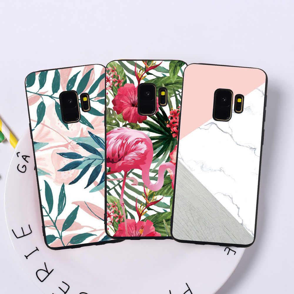 Estuche para teléfono suave para Samsung S9 S8 más S7 S6 borde J7 DUO J3 J5 J7 2017 Edición Europea pescado funda de mármol para gato Funda