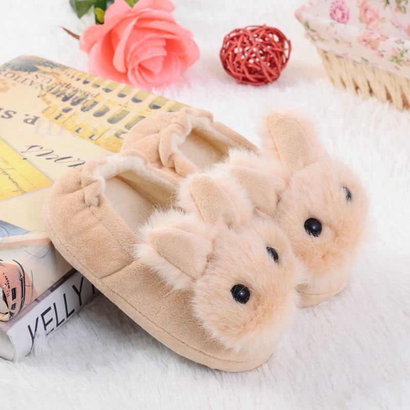 Baby Meisjes Schoenen Herfst Winter Schoenen Meisjes Jongens Eerste Lopen Katoen Cartoon Konijn Slippers Pasgeboren Baby Baby Kid Slipper Casual