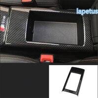 Lapetus Central Armrest Storage Box Decoration Frame Cover Trim 1 Pcs ABS Fit For Audi A3 V8 2014 2019 Carbon Fiber Look