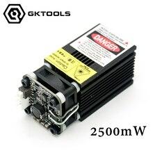 445nm, 2500 mW 12 V Lasergravur Maschine Gewidmet Lasermodul, wit TTL und PWM, können control laser power und einstellen fokus