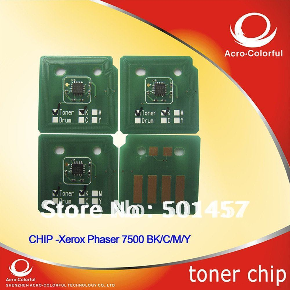 Toner chip for xerox 7500 reset color laser printer cartridge with high quality