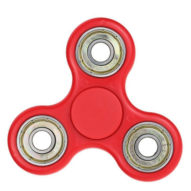 White/Black Tri-Spinner Fidget Toy Plastic EDC Fidget Spinner Hand Spinner For Autism and ADHD Gift