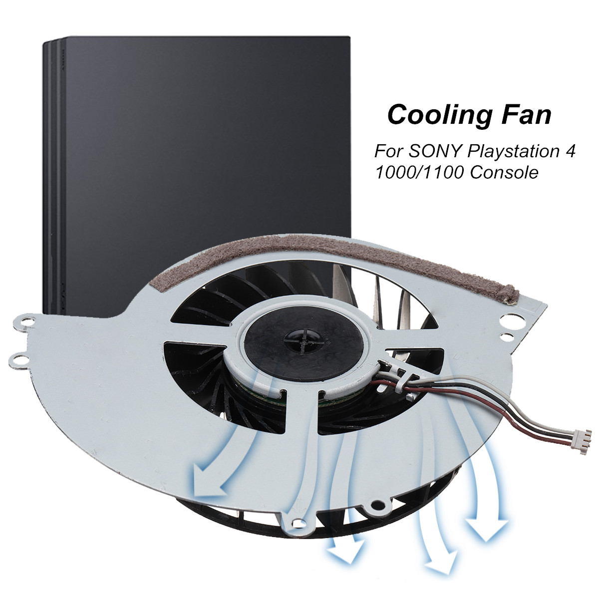 Computer Internal Cooling Fan 3 Pin Connecter For SONY for Playstation 4 ( PS4 ) 1000/1100 Model Lighter CPU Cooler Fans image