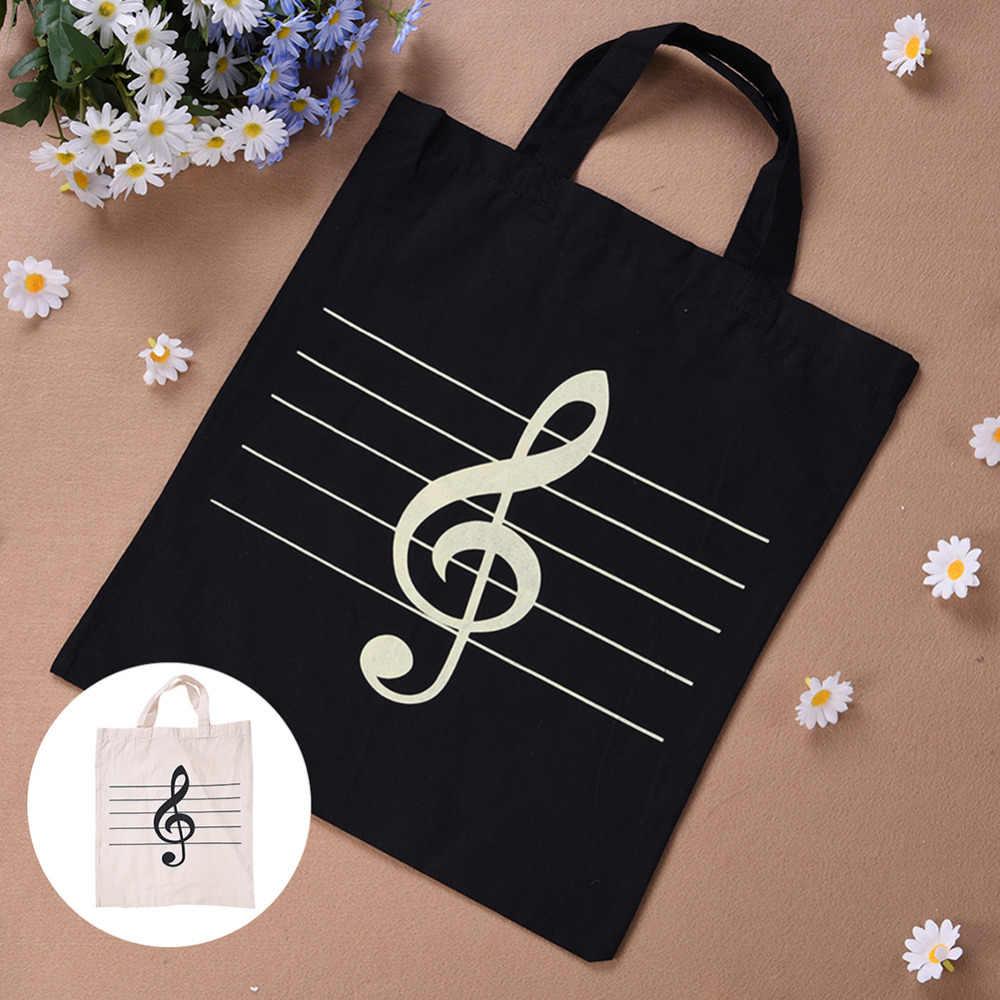 Portátil Saco de Caixa de Algodão E Linho Contagem da Música Símbolo Agudos Padrão Sacos De Instrumentos Musicais Sacos Saco Aparelho Musical Musical