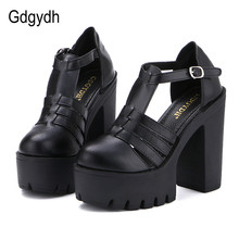 Gdgydh Hot Selling 2019 New Summer Fashion High Platform Sandals Women Casual Ladies Shoes China Black