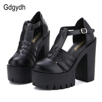 Hot Selling 2015 New Summer Fashion High Platform Sandals Women Casual Ladies Shoes China Black And
