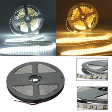 Big Promotion 5M 600 LED 3528 SMD Flexible Strip Tape Light Non-waterproof Warm White Pure White DC12V