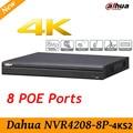 Original Dahua English version NVR4208-8P-4KS2 H.265 NVR with 2SATA 8POE ports , 4K NVR 8ch DH-NVR4208-8P-4KS2