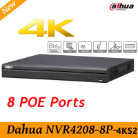 Oryginalny Dahua English version NVR4208-8P-4KS2 H.265 NVR z 2 porty SATA 8POE, 4 K DH-NVR4208-8P-4KS2 8ch NVR