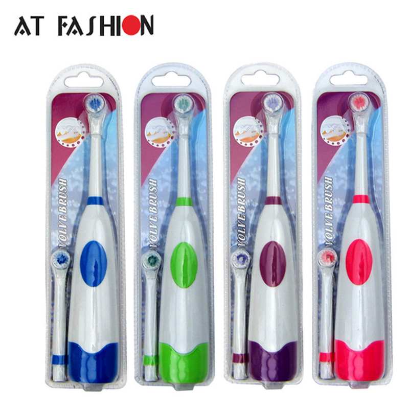 AT FASHION Oral Hygiene Electric Toothbrush Kids Replacement Heads Ultrasonic Oral Children Toothbrush Use with Battery