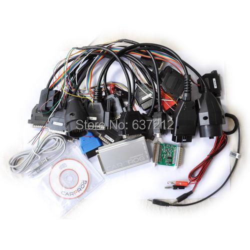 imágenes para A + + herramienta de la corrección del odómetro del prog del coche lleno V7.28 Carprog Dash IMMO Airbag EEPROM Programador Completo 21 cables