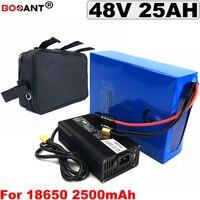 48V batteria Al Litio 25AH + un sacchetto Per Bafang BBSHD BBS02 800W 1800W Motore Elettrico E -batteria dello scooter 13S 48V di Trasporto libero
