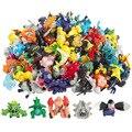 144 UNIDS Lot Ir Juguetes Estilo de La Mezcla de 2-3 CM Pokemon Nueva Lindo Monstruo de la historieta de Mini Figuras de Acción de Regalo de Navidad Para Los Niños Pikachu juguetes