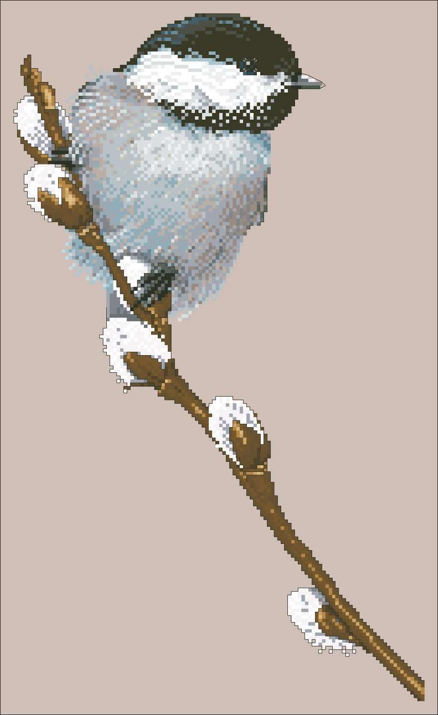 Маленькая птица на ветке крестиком набор людей дизайн хлопок шелк нить 18ct 14ct 11ct льняной Клык вышивка рукоделие
