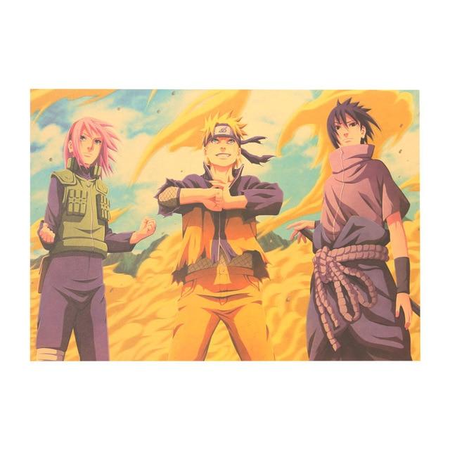 Naruto Kraft Paper Poster Wall Stickers