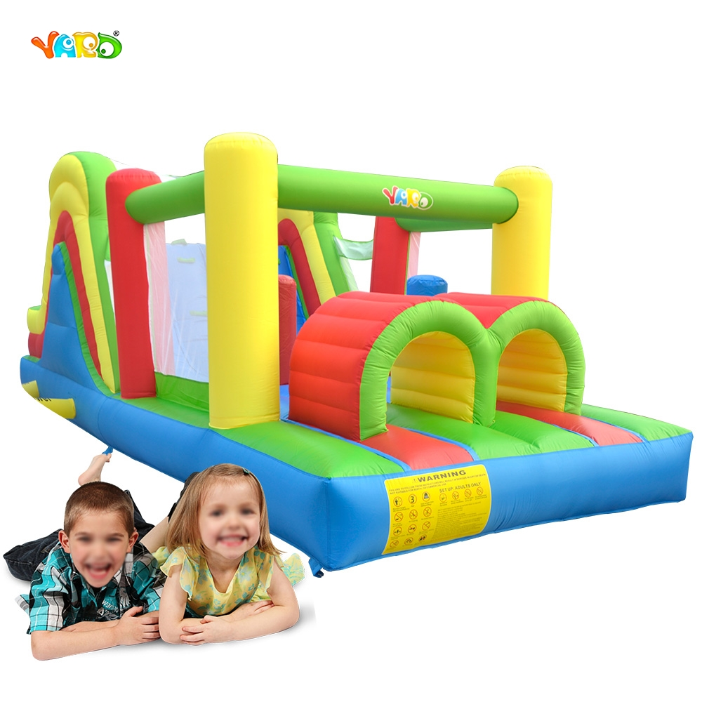 Jungle Bounce House Inflatable Trampoline Bouncer Jumper Moonwalk With Tunnel Jumping Castle giant super dual slide combo bounce house bouncy castle nylon inflatable castle jumper bouncer for home used