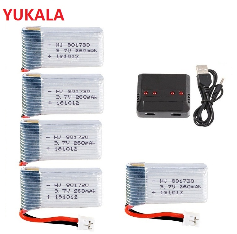 Upgrade 3.7v 260mAh For H2 H8 H8mini H20 H36 H48 E010 E010C E011 E012 E013 F36 U839 S8 M67 <font><b>Lipo</b></font> <font><b>BATTERY</b></font> <font><b>3.7</b></font> V 260 MAH image