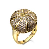 Wholesale Cocktail Party Jewelry Free Shipping Sphere Shape Free Allergy Cubic Zirconia Womens Large Fashion Rings
