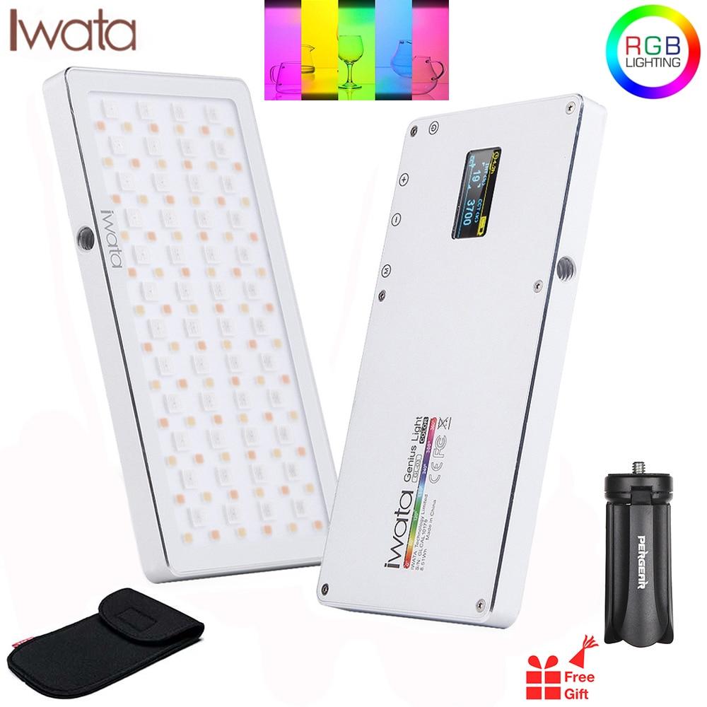 Iwata GL-03 rvb couleur Led lumière vidéo 3000 K-5500 K Dimmable photographie vidéo Studio DSLR caméra lumière pour vlog en direct