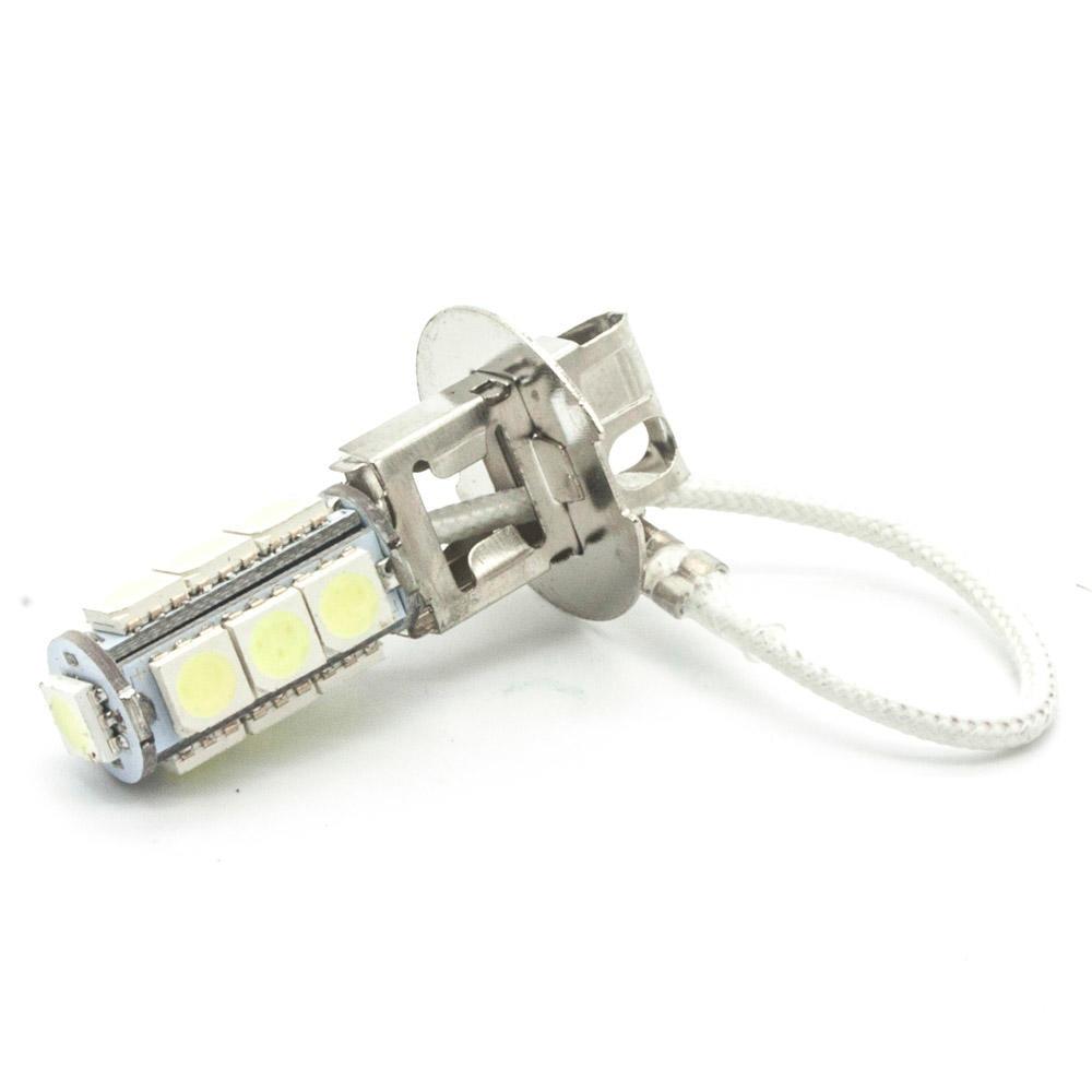 2 Pcs H3 PK22S 13 5050 SMD LED Bulbs DC 12V White Fog Lamp Lights Auto Car Light Lamp Bulb