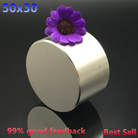 Free Shipping 50x30mm 1pcs Round Magnet Strong Rare Earth Strong Neodymium Magnets Dia 50x30 Wholesale 50