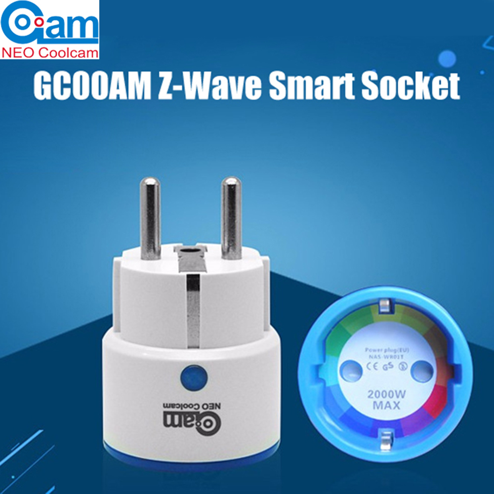 NEO COOLCAM NAS-WR01ZE Z-wave EU Smart Power Plug Socket Home Automation Alarm System home Adapter Support APP ControlNEO COOLCAM NAS-WR01ZE Z-wave EU Smart Power Plug Socket Home Automation Alarm System home Adapter Support APP Control