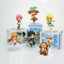6pcs/lot Sword Art Online Fairy Dance Kirito Asuna Lefa SAO PVC Action Figures Toys