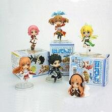 Sword Art 6 unidades/lote de figuras de acción de PVC, baile de hada en línea, Kirito y Asuna Lefa