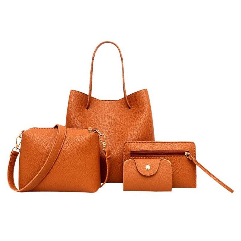 xiniu 4Pcs SET Women Pattern Leather Handbag Crossbody Messenger Bag Card Package carteras y bolsos de mujer torebka damska все цены