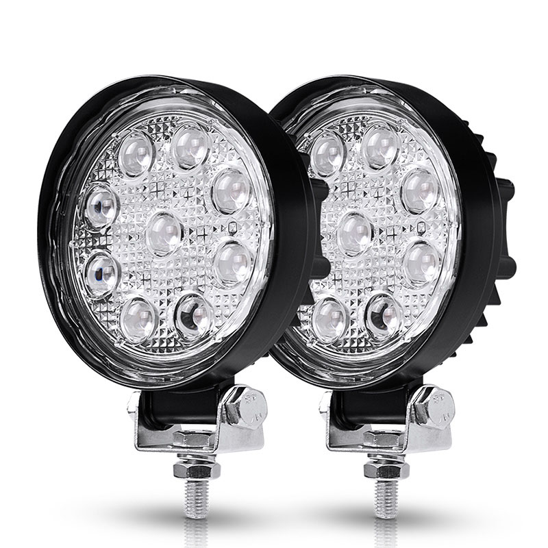 2Pcs 12V 4D 3D 27W Offroad LED Work Light Spotlight Spot Beam Drive Lamp for JEEP UAZ 4x4 Car 4WD Boat SUV ATV Truck Motorcycle 2pcs 12v 4d 3d 27w offroad led work light spotlight spot beam drive lamp for jeep uaz 4x4 car 4wd boat suv atv truck motorcycle