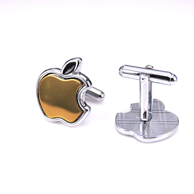 Vintage Gold Apple Cufflink 6 Colors