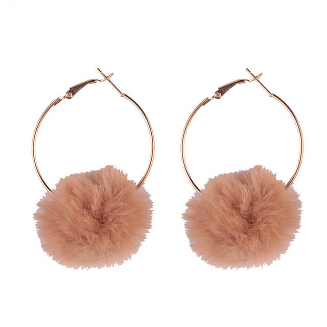 Women Cotton Ball Hot Drop Earrings Statement Jewelry Boho Wedding Gifts Cheap Dangle Earrings Bijoux