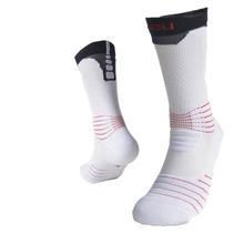 Men Sports Socks Thick Towel Bottom Tennis Socks with Letter Mid-Calf Ankle Protect Athletics Cycling Socks Eur Size 39-45